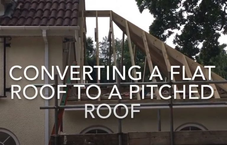 Converting a flat asphalt roof to a pitched one