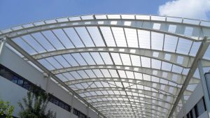 Polycarbonate sheet roofing