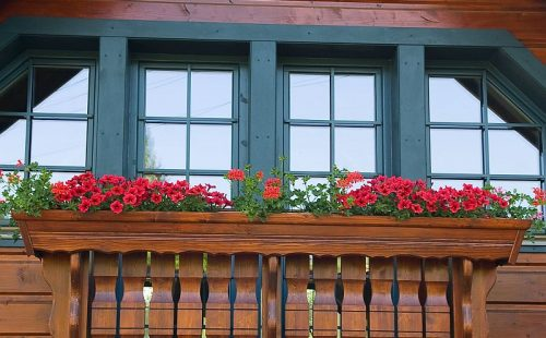 wooden aluminum plastic windows