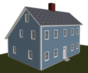 saltbox roof house model
