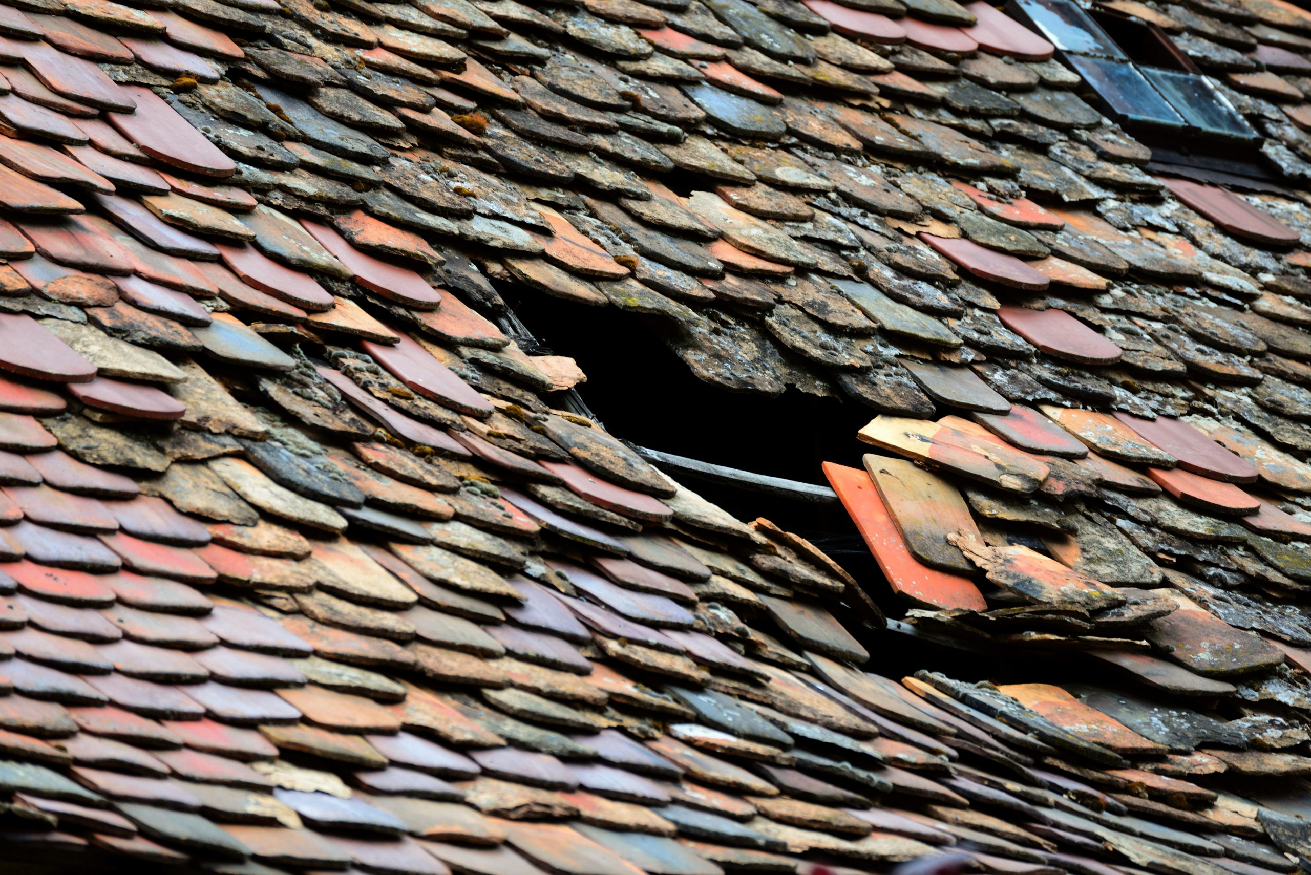 roof, roof tiles, roof damage